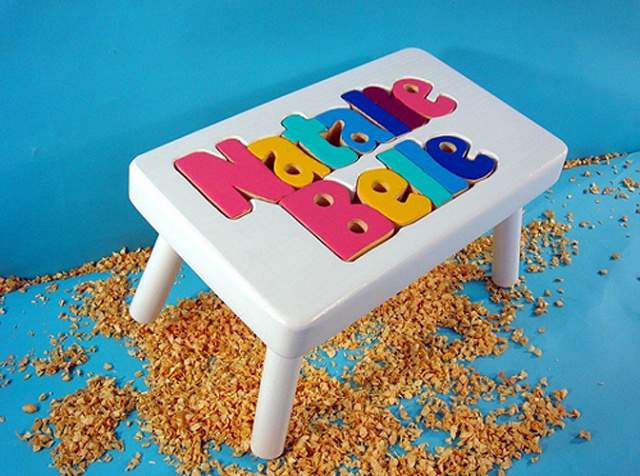 Personalized Children Name Puzzle Step Stools Free