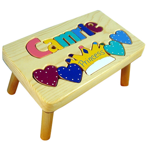 Princess Wooden Step Stool