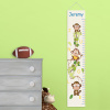Personalized Boy Jungle Monkeys Height Growth Chart