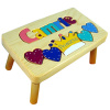 CHILDREN KIDS WOODEN NAME PUZZLE STEP STOOLS - Made in USA - Free Shipping