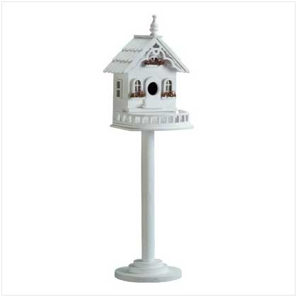 Victorian Style Cottage Bird House Stand