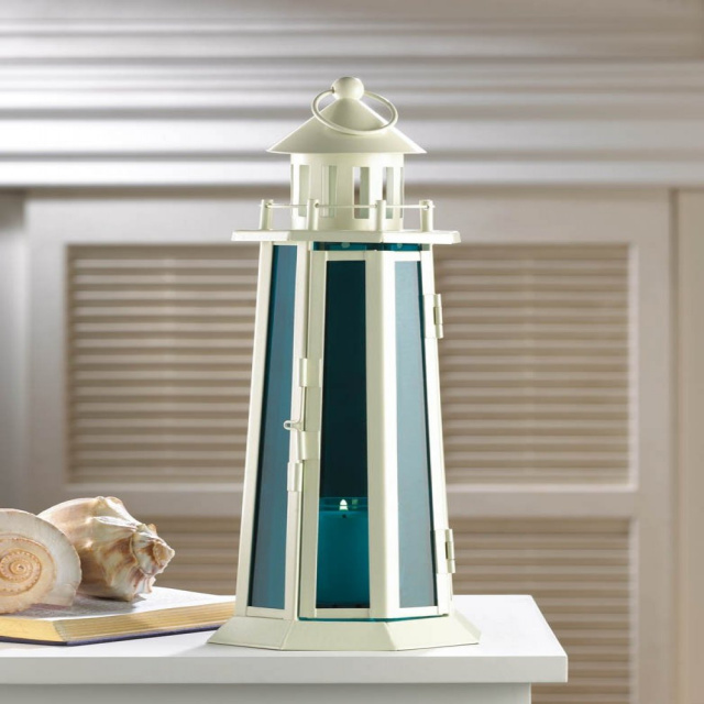 Large Nautical Lighthouse Candle Lamp