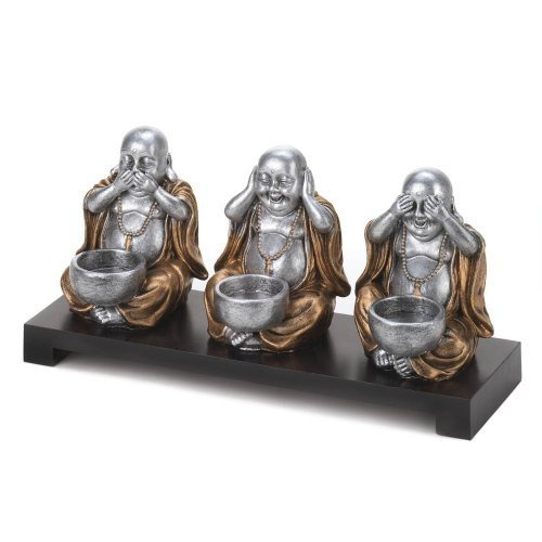 See No Evil Buddha Candle Holder