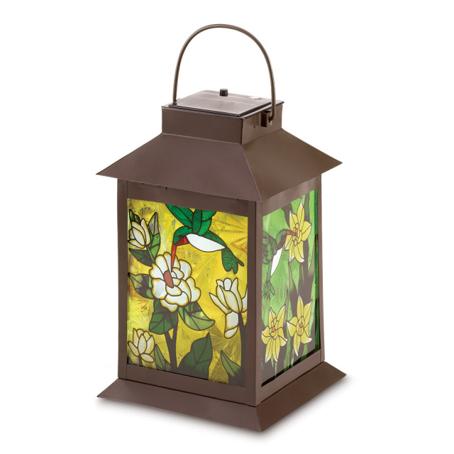 Solar Powered Hummingbird Lantern
