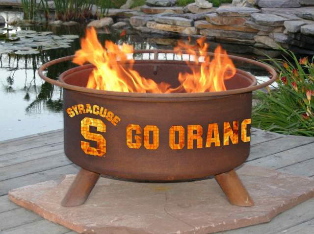 Syracuse Orange Fire Pit Grill