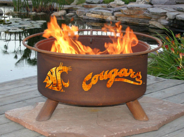 Washington State Cougars Fire Pit Grill