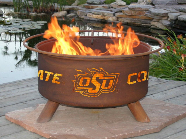 Oklahoma State Cowboys Fire Pit Grill