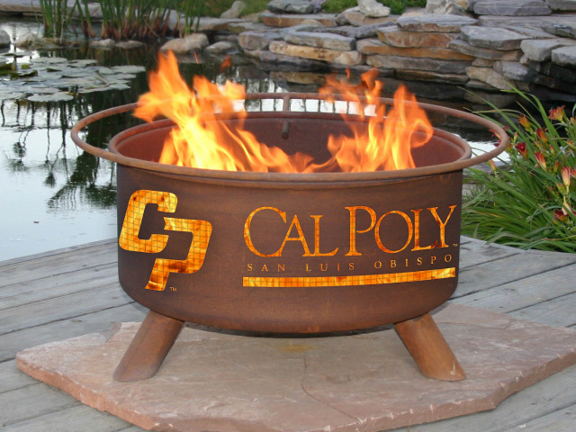 Cal Poly San Luis Obispo Mustangs Fire Pit Grill