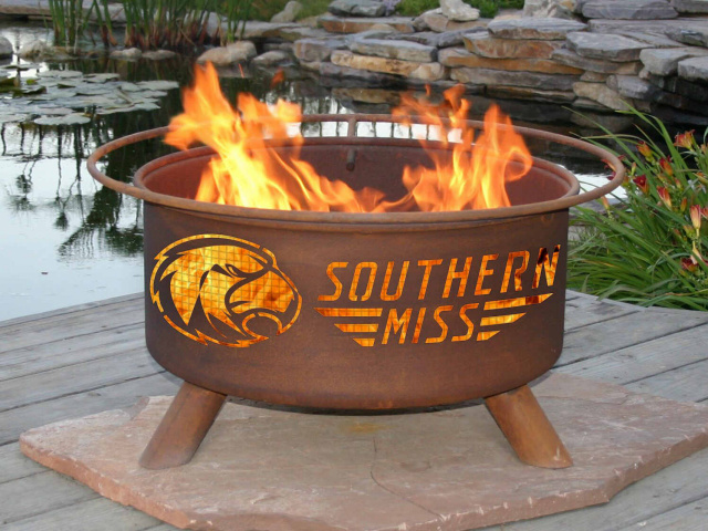 Southern Mississippi Golden Eagles Fire Pit Grill