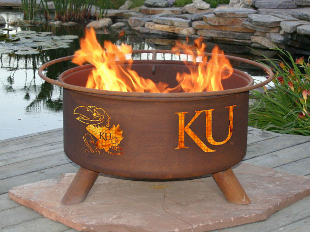 University of Kansas Jayhawks Fire Pit Grill