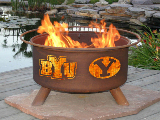 BYU Cougars Fire Pit Grill