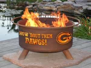 University of Georgia Bulldogs Fire Pit Grill