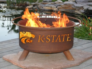 Kansas State Wildcats Fire Pit Grill