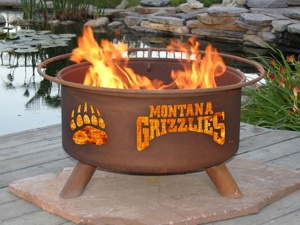 University of Montana Grizzlies Fire Pit Grill