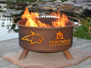 Montana State Bobcats Fire Pit Grill