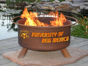 University of New Mexico Lobos Fire Pit Grill