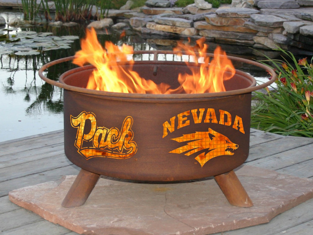 Nevada Wolf Pack Fire Pit Grill