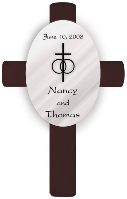 Personalized Classic Wedding Anniversary Cross