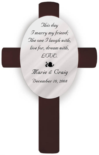 Personalized On This Day Poem Wedding Anniversary Cross