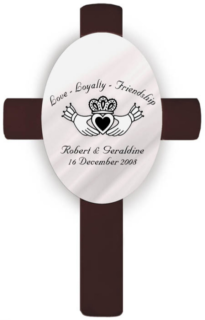 Personalized Claddagh Wedding Anniversary Cross