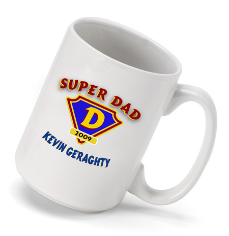 Personalized Super Dad Coffee Mug