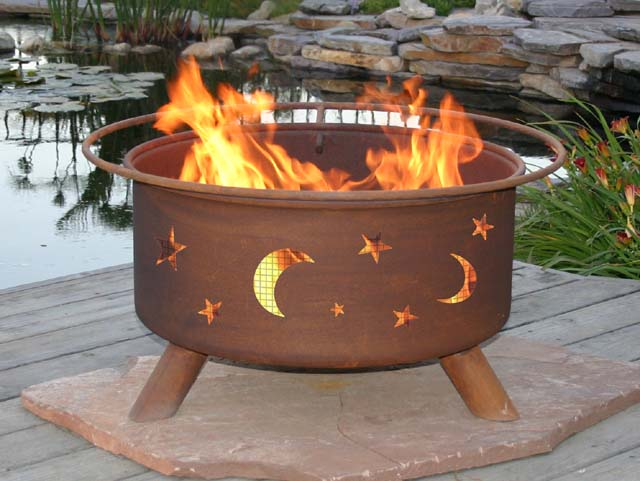 Evening Sky Outdoor Fire Pit Grill