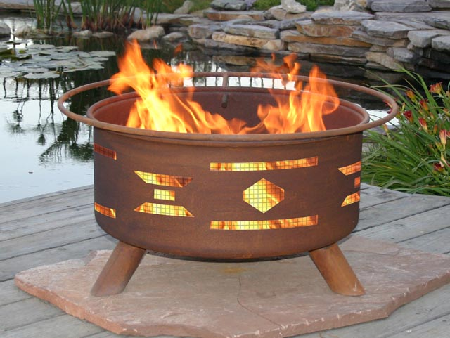 Southwestern Santa Fe Style Outdoor Fire Pit Grill