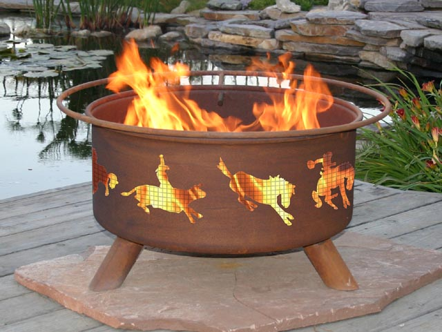 Western Style Outdoor Fire Pit Grill