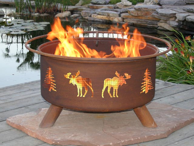 Moose Outdoor Fire Pit Grill