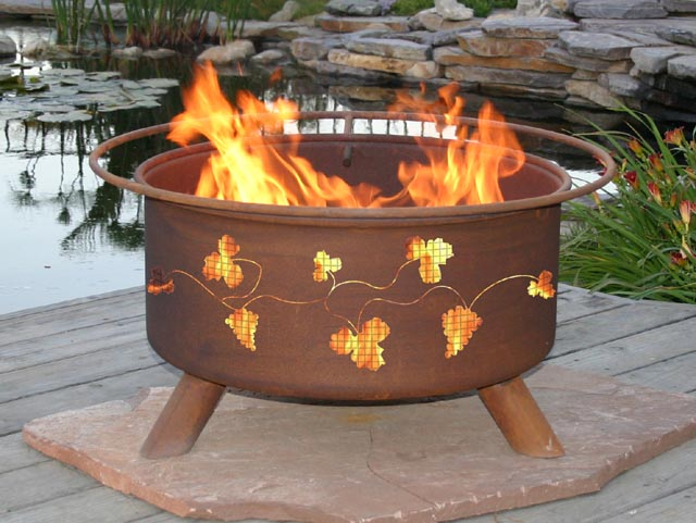 Grapevine Outdoor Fire Pit Grill
