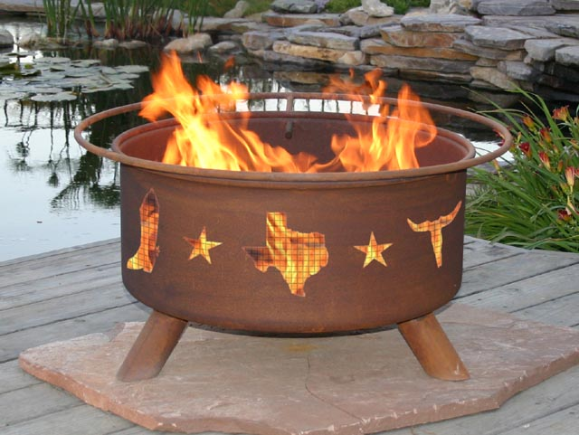 Lone Star Outdoor Fire Pit Grill