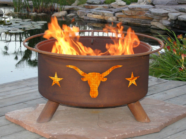 Texas Longhorn Fire Pit Grill