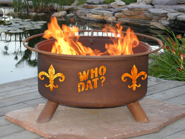 Who Dat Fire Pit Grill
