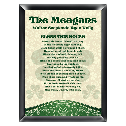 Personalized Irish Bless This House Sign