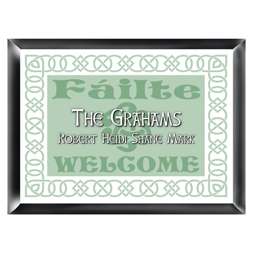 Personalized Irish Linen Look Family Sign