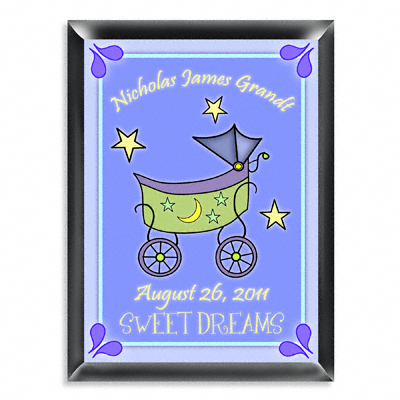 Personalized Boy Baby Buggy Room Door Sign