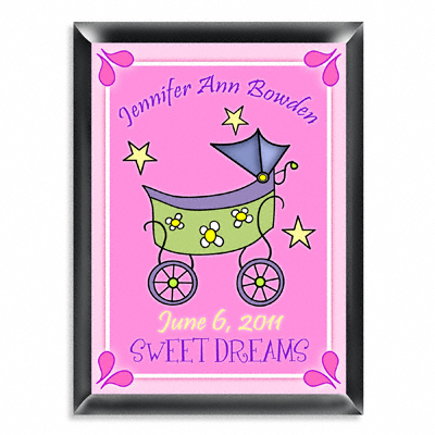 Personalized Girl Baby Buggy Room Door Sign