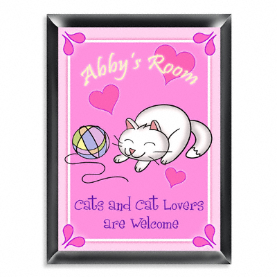 Personalized Kitten Room Door Sign