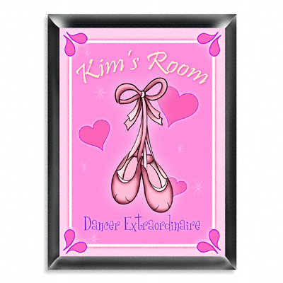 Personalized Ballet Slippers Room Door Sign