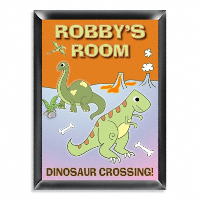 Personalized Dinosaur Room Door Sign