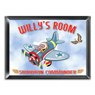 Personalized Fly Boy Airplane Room Door Sign