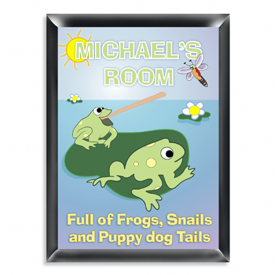 Personalized Frogs Room Door Sign