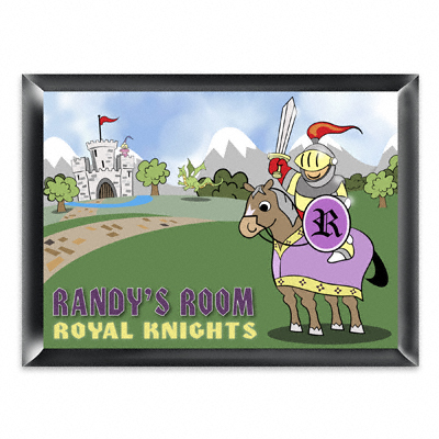 Personalized Royal Knight Room Door Sign