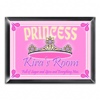 Personalized Princess Room Door Sign