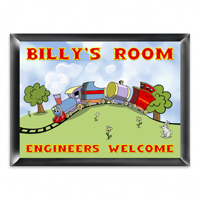 Personalized Choo Choo Train Room Door Sign