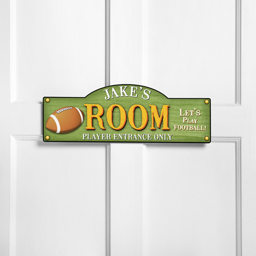 Personalized Touch Down Football Room Door Sign