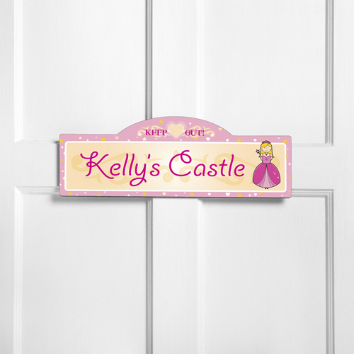 Personalized Her Royal Highness Girls Room Door Sign