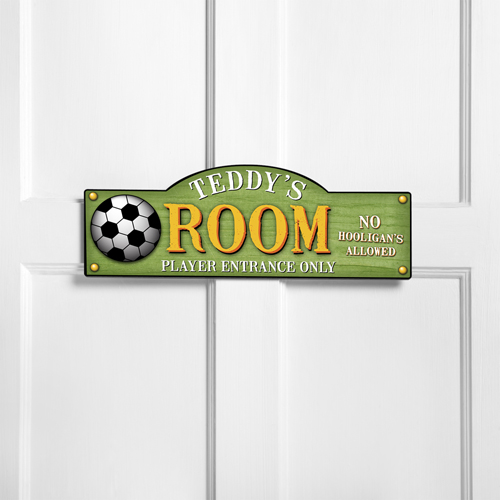Personalized Soccer Room Door Sign