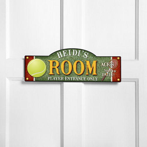 Personalized Tennis Room Door Sign