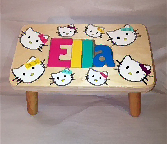 Miraculous Personalized Children Name Puzzle Step Stools Free Shipping Pdpeps Interior Chair Design Pdpepsorg